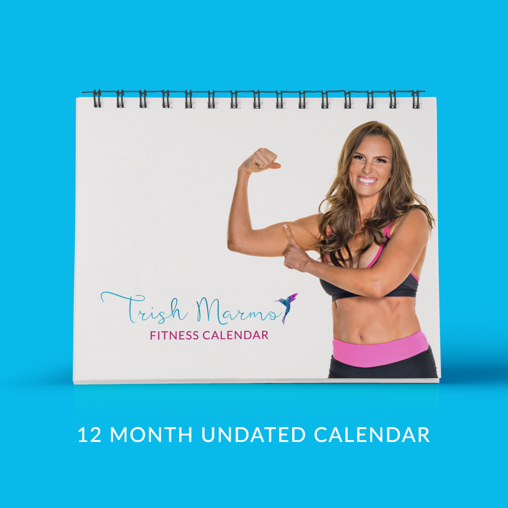 Fitness MOMents' 12-month undated fillable workout calendar