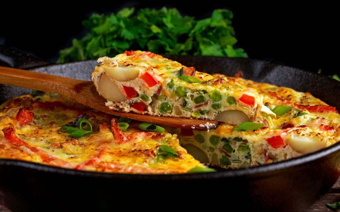 Fitness MOMents' One Skillet Vegetarian Frittata