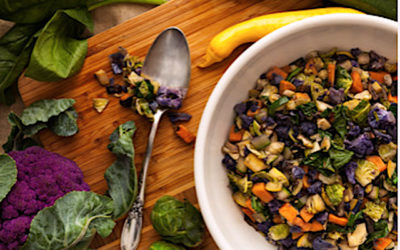 Roasted Butternut Squash And Brussels sprouts Salad